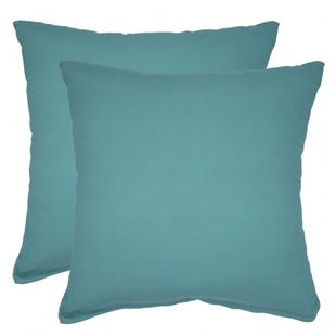 Solid Teal Indoor/Outdoor Pillow