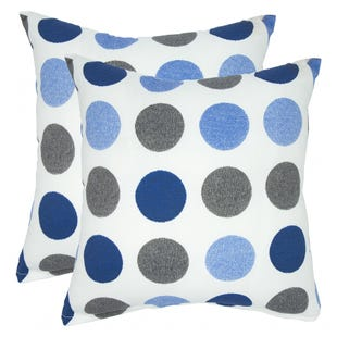Blue Polka Dot Indoor/Outdoor Pillow