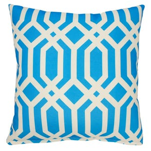 Teal Geometric Indoor/Outdoor Pillow