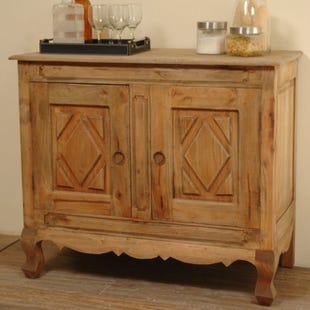 Leslie Rustic Wood Wine Server