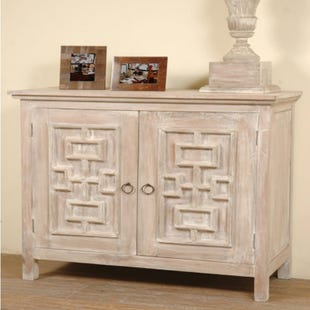 Donna Distressed Wood Accent Chest