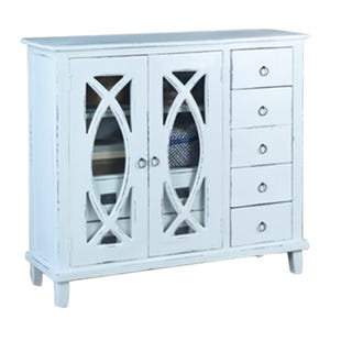 Pearl Gray Storage Display Cabinet