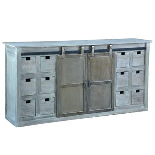 Farmer Stone Wall Storage Console