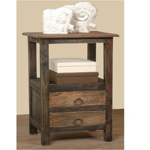 Diane Tall Rustic Wood Accent Table