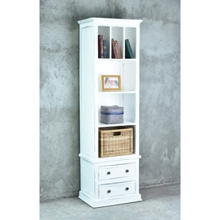 White Wash Storage Cabinet
