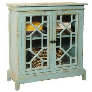 Beach Blue Display Cabinet