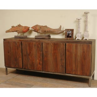 Ron Contemporary Wood Console
