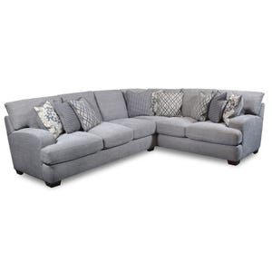 Bennington Gray Chenille Sectional