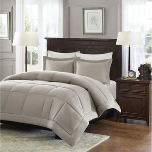 Vivian Taupe 3 Piece King Comforter Set