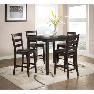 Luca 5 Piece Contemporary Counter Height Dining Set
