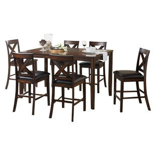 Palm Springs 7 Piece Wood Counter Height Dining Set