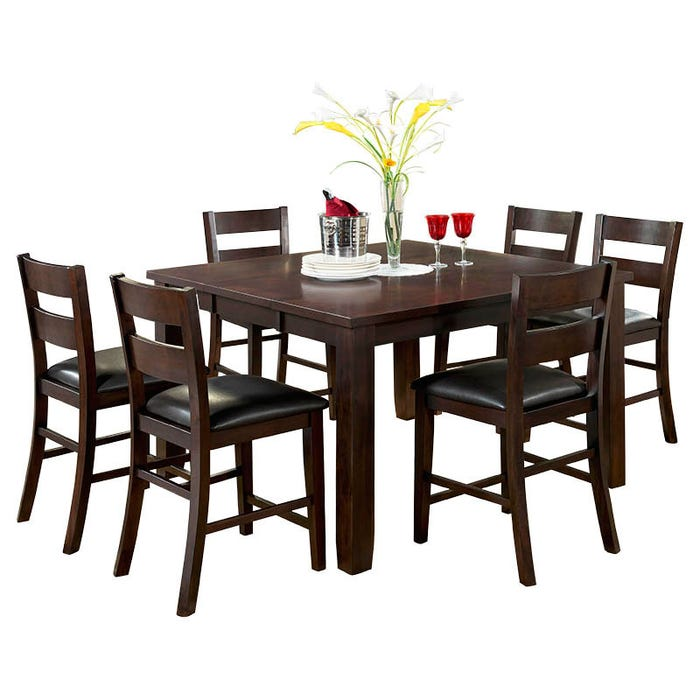 Alpine Ridge 7 Piece Contemporary Pub Dining Set Weekends Only