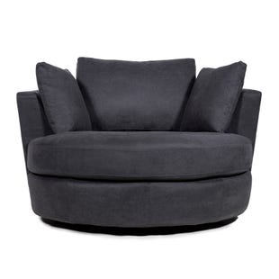 Ava Charcoal Swivel Chair