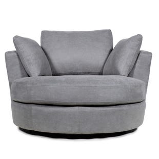 Ava Gray Swivel Chair