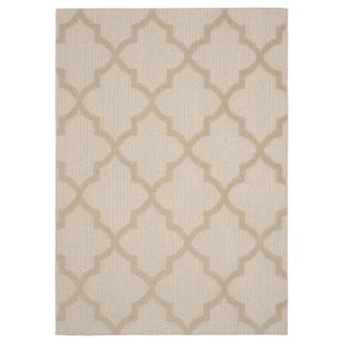 Quatrefoil IvoryTan 5x7 Indoor/Outdoor Rug