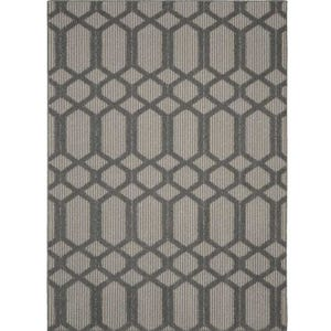 Pompeii Cinder Gray/Silver Indoor/Outdoor 8x10 Rug