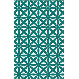 Garland Bright Eyed Suzy Teal 5x8 Rug
