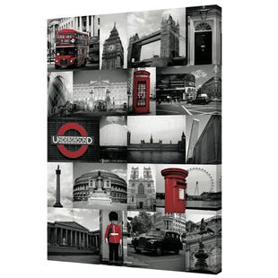 London Red Canvas Wall Art