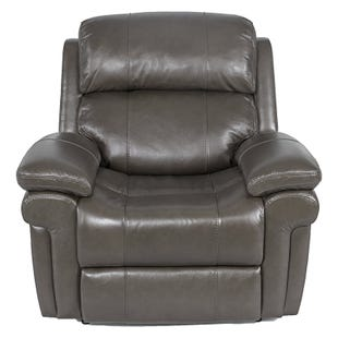 Livorno Dual Power Leather Recliner Gray
