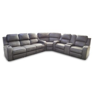 Hunter Gray Dual Power Reclining Sectional
