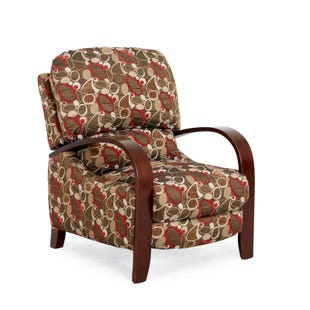 Molly Mid-Century Modern Patterned 3-Way Push Back Recliner