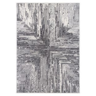 Abbington Gray Stripe 5x8 Rug