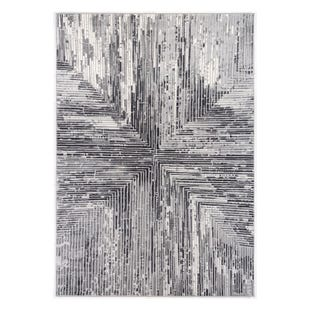 Abbington Gray Stripe 8x10 Rug