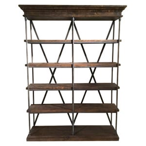 Nero Graywash Iron Display Bookcase