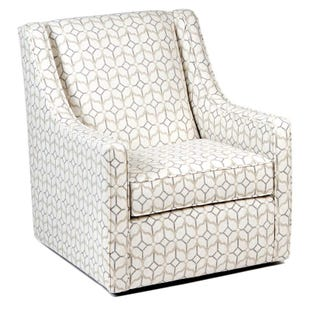 Rockaway Linen Swivel Chair