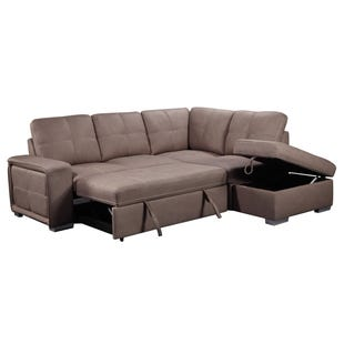 Bellini Taupe Sleeper Sectional