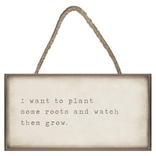 Plant Roots and Watch Plaque