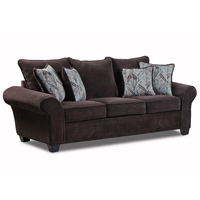 Trinidad Chocolate Chenille Sofa | Weekends Only Furniture