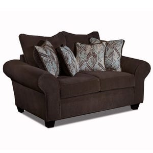 Trinidad Chocolate Chenille Chair And Half Weekends Only
