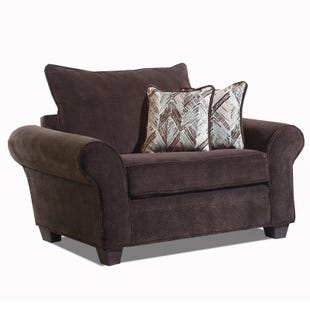 Trinidad Chocolate Chenille Chair and Half