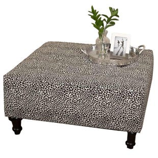 Hixon Tiny Leaves Onyx Cocktail Ottoman