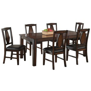 Tuscan Hills Extendable Brown 7 Piece Dining Set