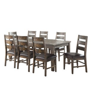 Glenwood 9 Piece Wood Extendable Counter Height Dining Set