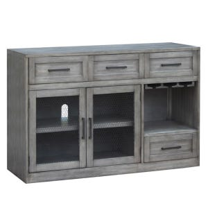 Shelter Cove Gray Brushed Server