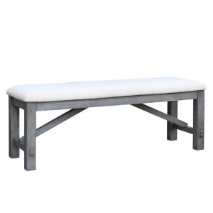 Shelter Cove Gray Brushed Bench