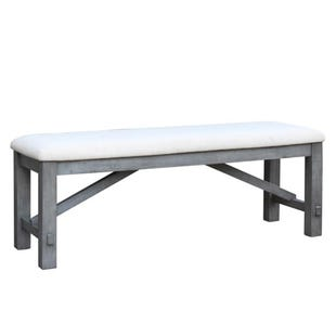 Shelter Cove Gray/Wire Brushed Bench