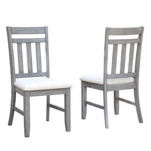 Shelter Cove Gray/Wire Brushed Set of 2 Dining Chairs