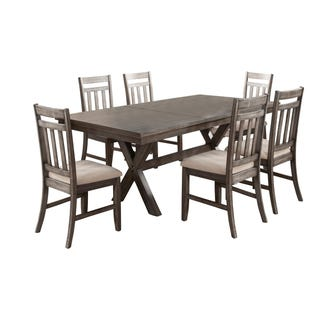 Shelter Cove Gray Rectangular Extendable 7 Piece Dining Set
