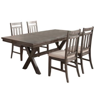 Shelter Cove Gray Rectangular Extendable 5 Piece Dining Set