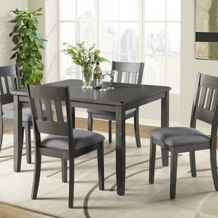 Paros Charcoal 5 Piece Dining Set