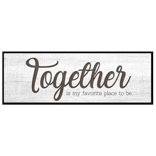 Together 12x36 Framed Art