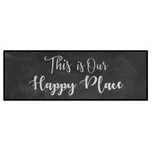 Happy Place 12x36 Framed Art