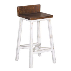 "Pueblo Distressed  White 30"" Bar Stool"