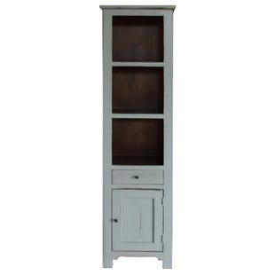 Rivera Gray Storage Bookcase