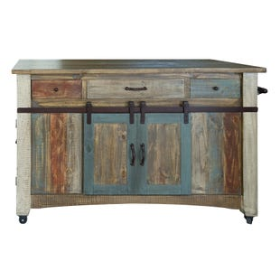 Antique Multicolor Island Bar