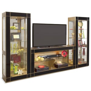 Altair Antique Gold And Black 66 Tv Stand Weekends Only Furniture